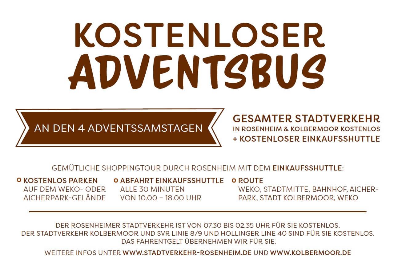 Flyer kostenloser Adventsbus Rückseite