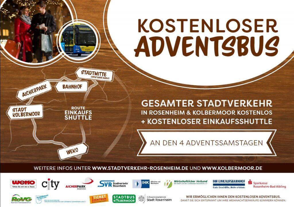 Flyer kostenloser Adventsbus Vorderseite